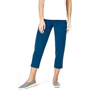 J Jill Pure Jill Indigo Knit Slim Crop Pants